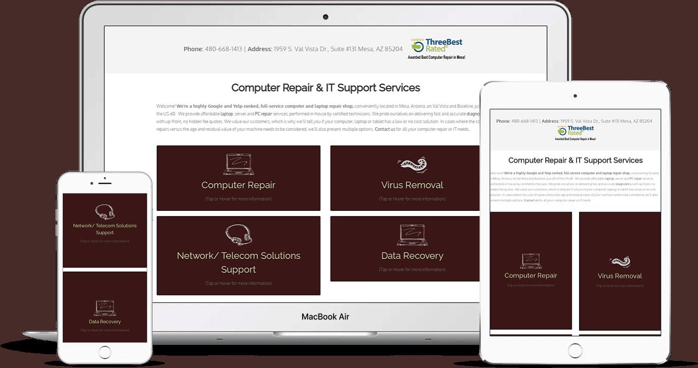 It industry website design