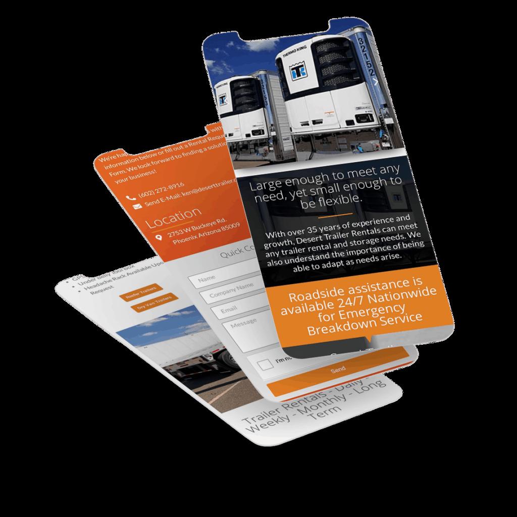 website design for transportation industry