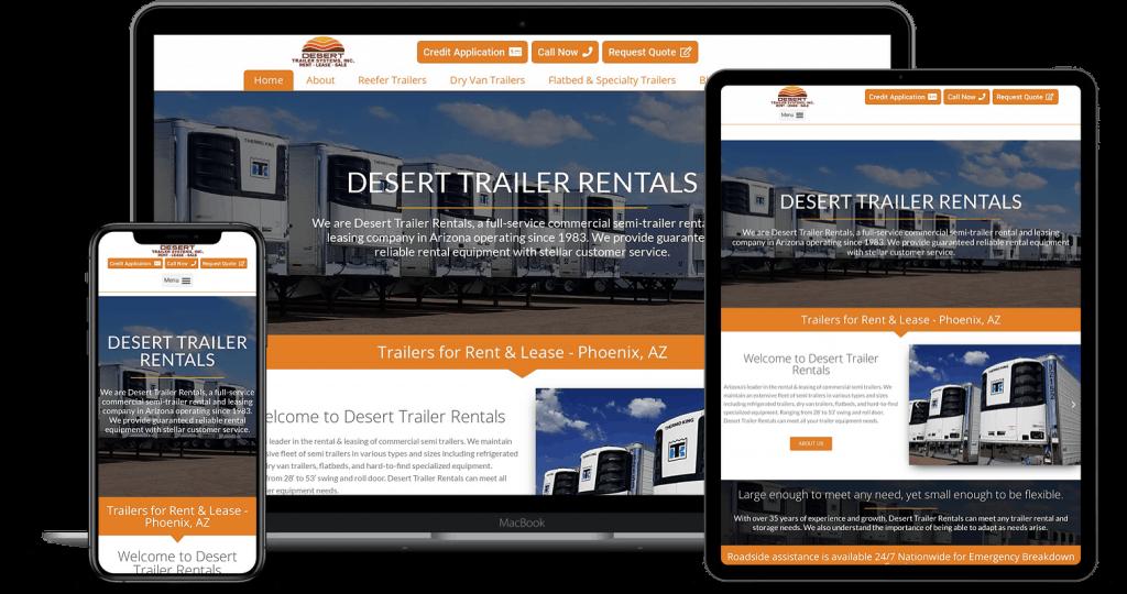 Truck & Auto Rental Websites that get leads!