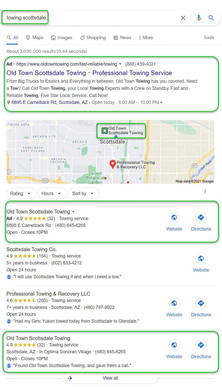 Hybrid Local SEO Search Result Domination