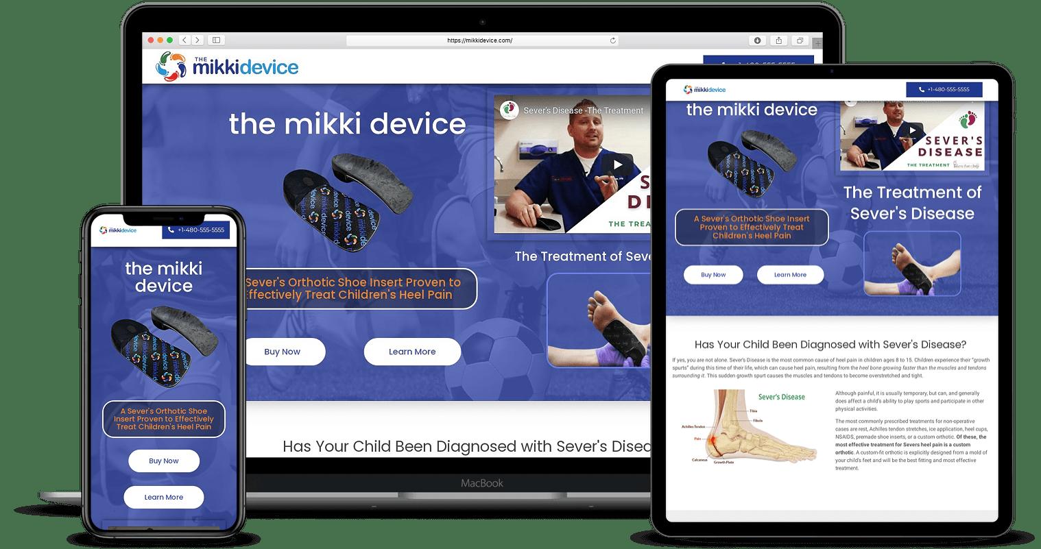Medical Product eCommerce Website Designs