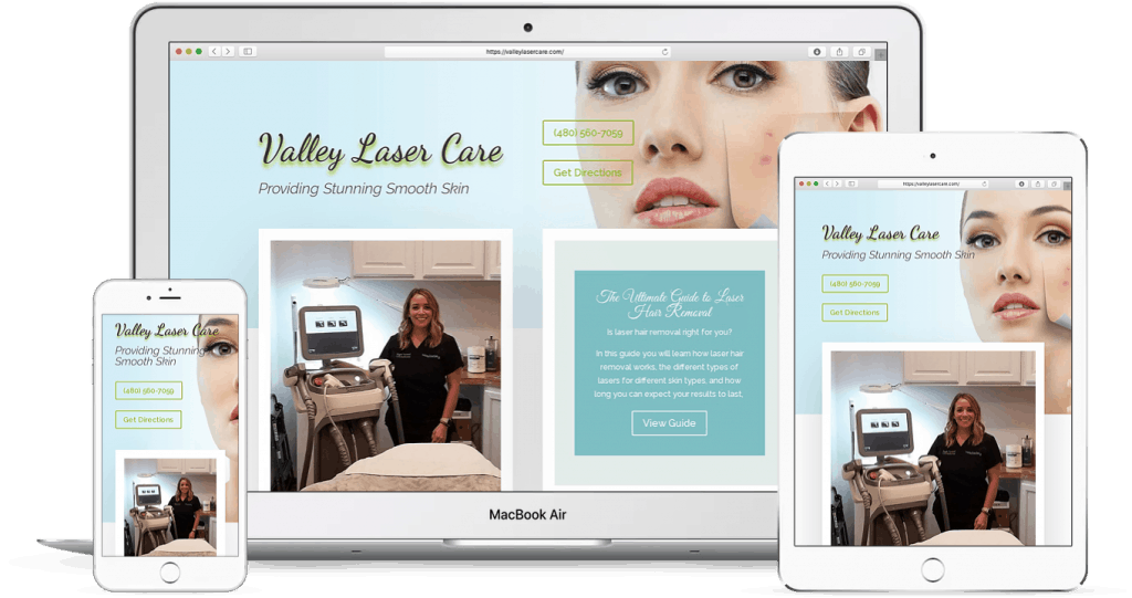 Health and beauty industry website design