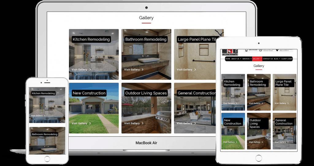 Home remodeling company website design