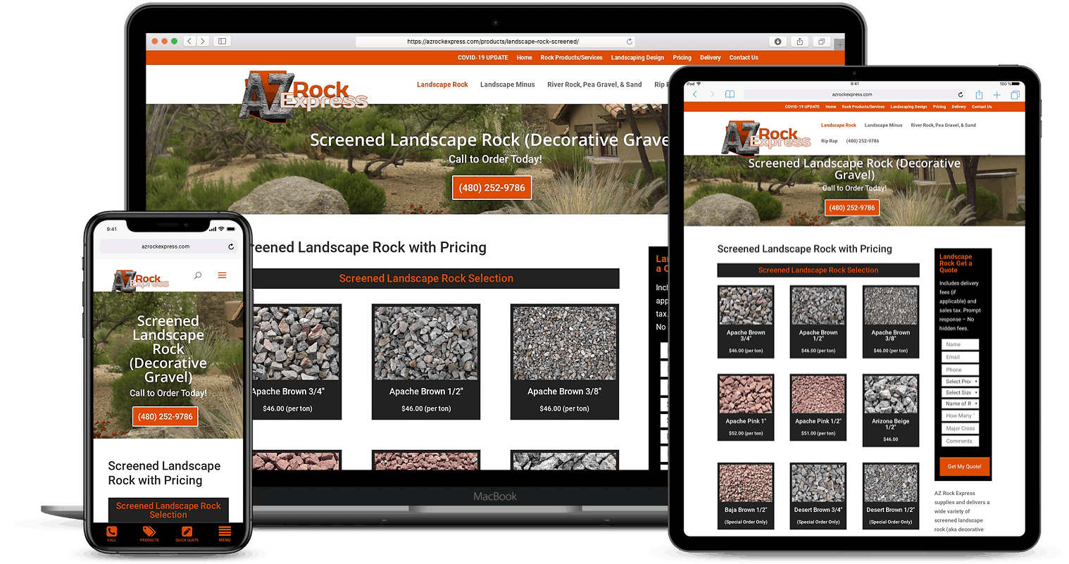 Landscaping Company Website Designs