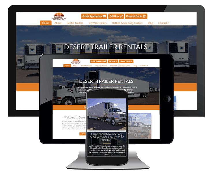 Transportation industry website design