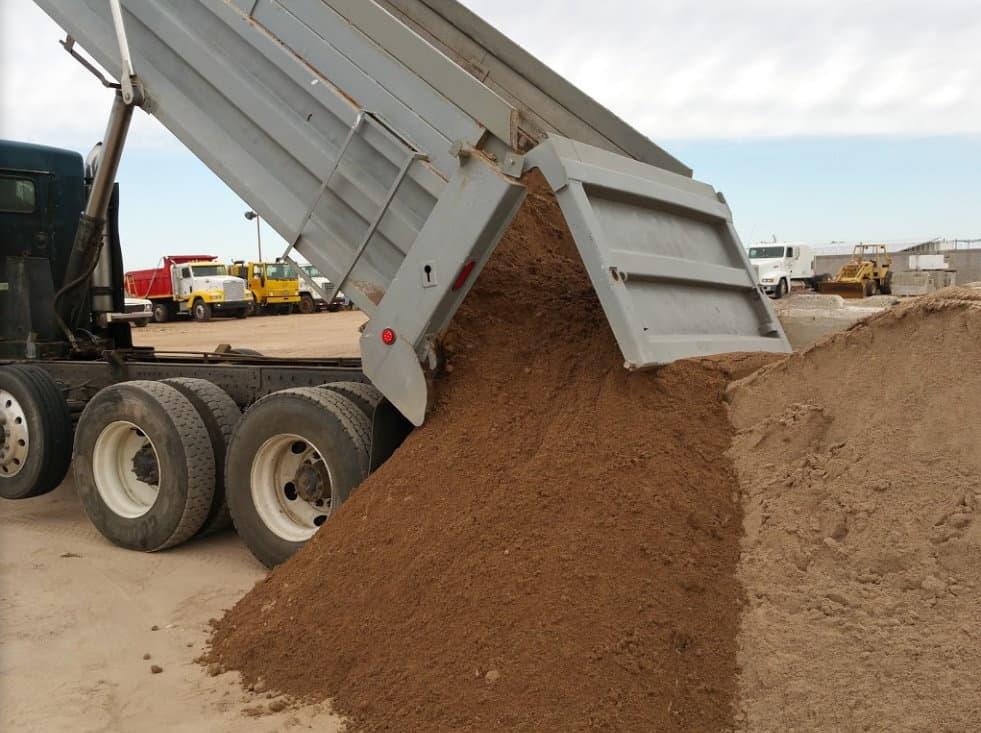 dump truck with dirt