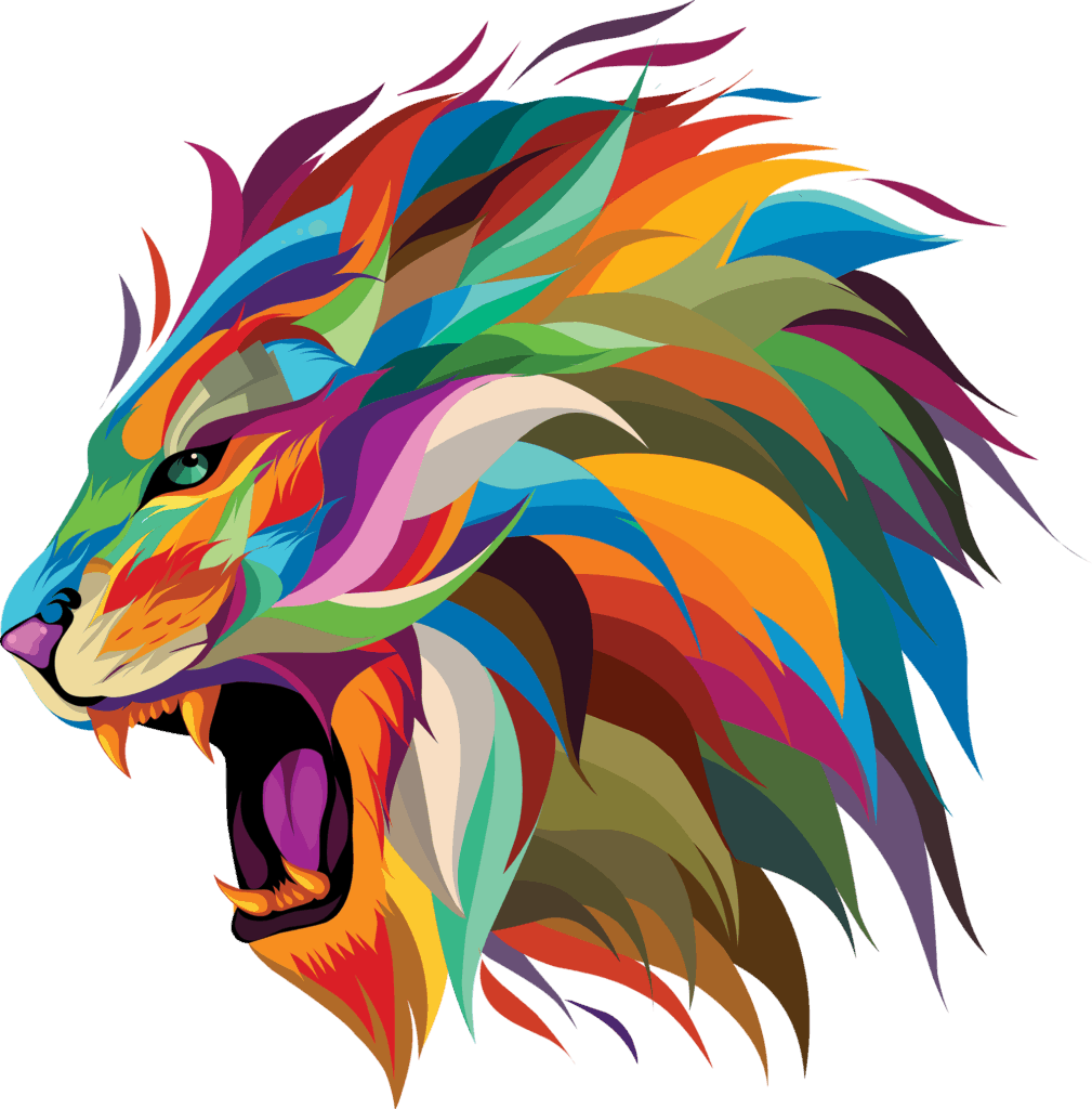 Inspired Marketing Design Lion With Color