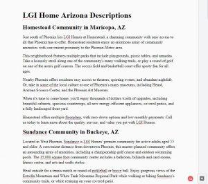 Lgi Homes Arizona content