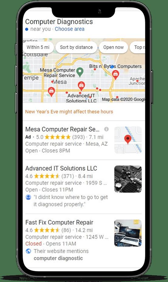 search result for computer diagnostics in mesa az