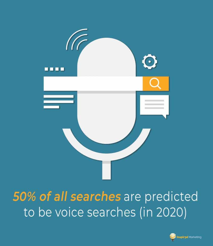 voice search teal blue graphic