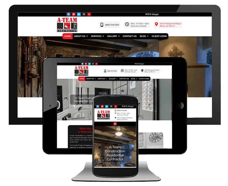 website design example 3 screens remodeling company