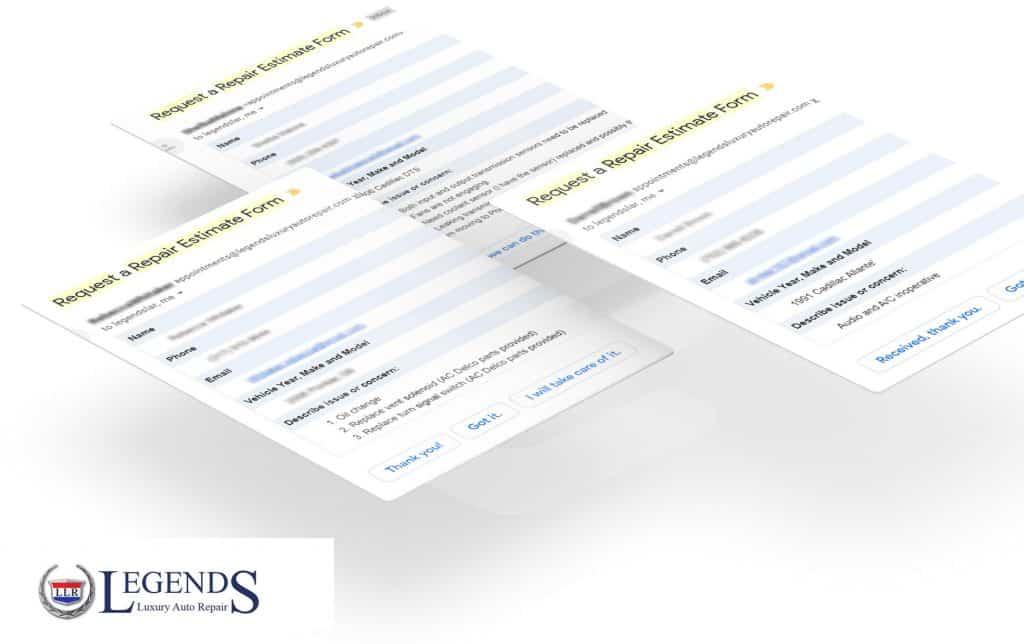 website submission forms